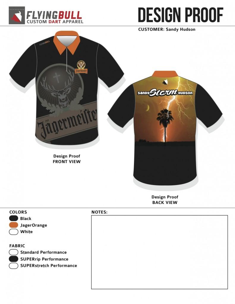 Sandy Hudson - Jagermeister Dart Shirt Concept